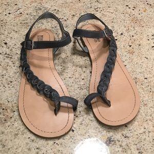 Denim blue sandals